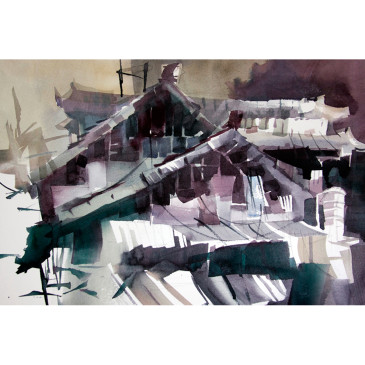 Village Roofs – Original Sold