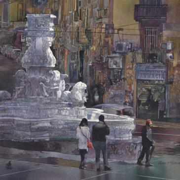 Fontana a Napoli